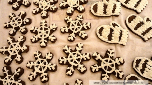 chocolate gingerbread cookies banner