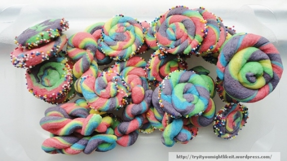 Rainbow butter cookies banner
