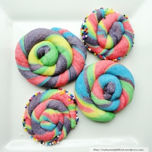 Rainbow butter cookies final