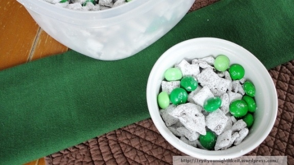 St Patricks Day snack mix banner