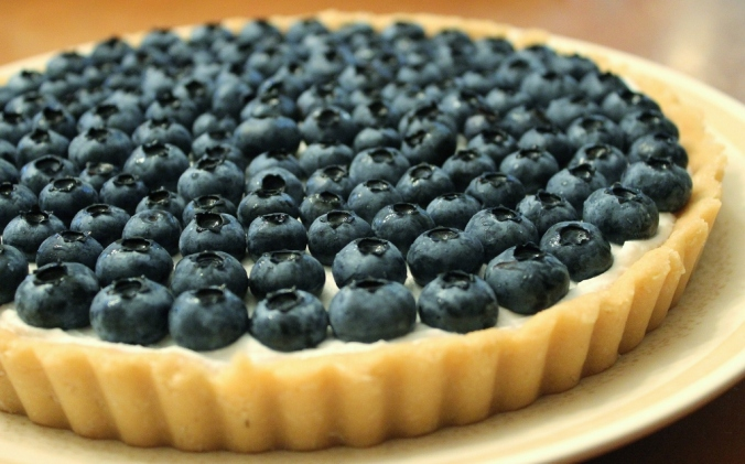 blueberry coconut tart banner