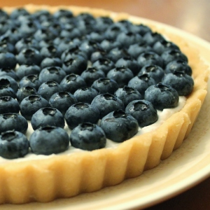 blueberry coconut tart cropped
