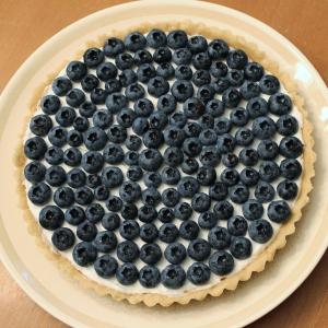 blueberry coconut tart