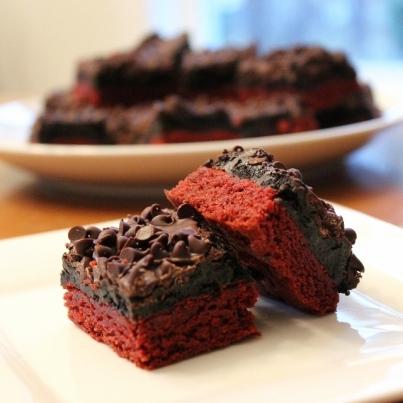 Red Velvet Oreo Truffle Brownies 2