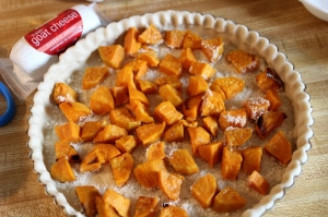 sweet potato and goat cheese quiche 1