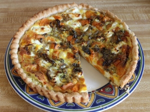 sweet potato and goat cheese quiche 2