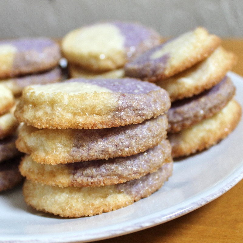 blueberry-almond cookies stack
