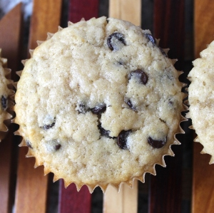 chocolate chip oatmeal muffins 1