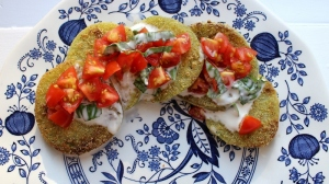 fried green tomatoes with herb sauce