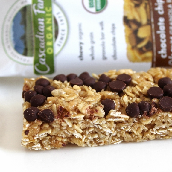 winner Cascadian Farms chocolate chip granola bar