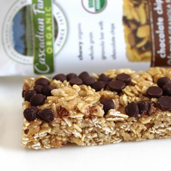 winner Cascadian Farms chocolate chip granola bar