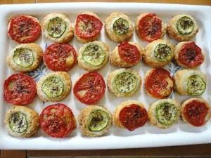 Tomato and Zucchini Tartlets