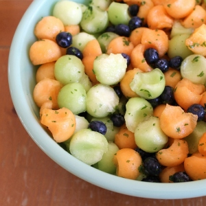 Melon and blueberry fruit salad 2