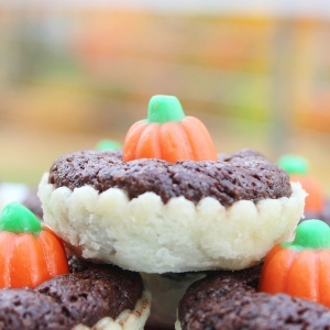 pumpkin patch brownie pie